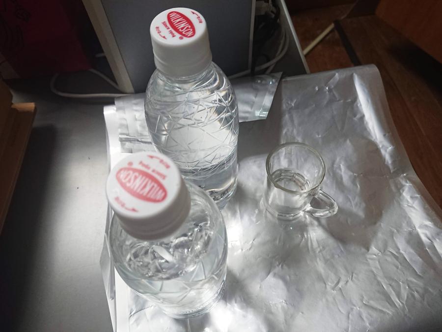 17年前の水を試飲